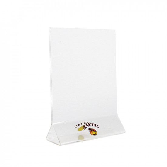 Porte-menu plié / Acrylic glassmenu holder
