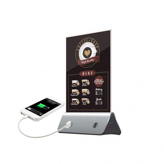 Chevalet batterie de secours 4 prises USB / Powerbank display