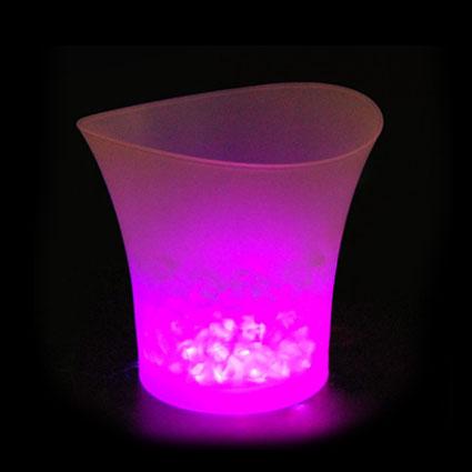 Rafraîchisseur lumineux 1 bouteille 5 l/ Led light ice bucket 5 l